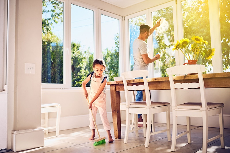 how environmental issues can affect your ac, kid cleaning with dad